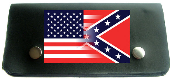 TRUCKER WALLET USA/REBEL FLAG COMBO