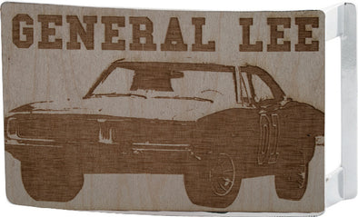 Wood General Lee Belt Buckle