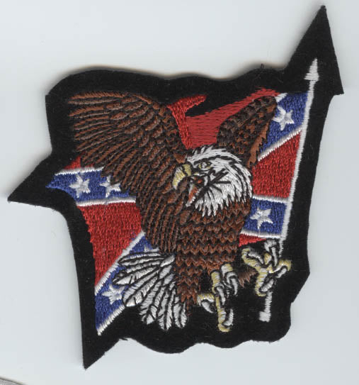 Screaming Eagle Rebel Flag Patch