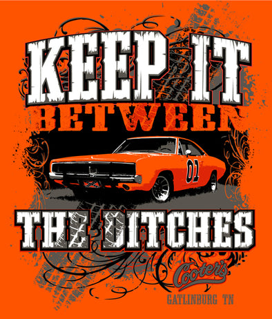 "Postcard ""Keep It Between The Ditches"""