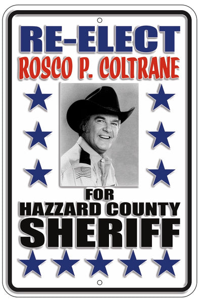 Re-Elect Rosco Metal Sign (12 X 18)