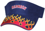 Flaming Redneck Visor Black