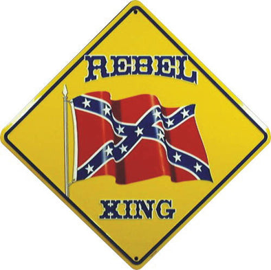 Confederate Crossing  Metal Sign (12 X 12)