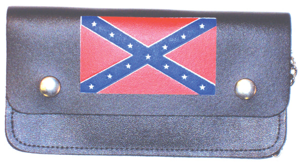Confederate Flag Large Trucker Wallet