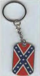 Rebel Flag Keychain Dog Tag