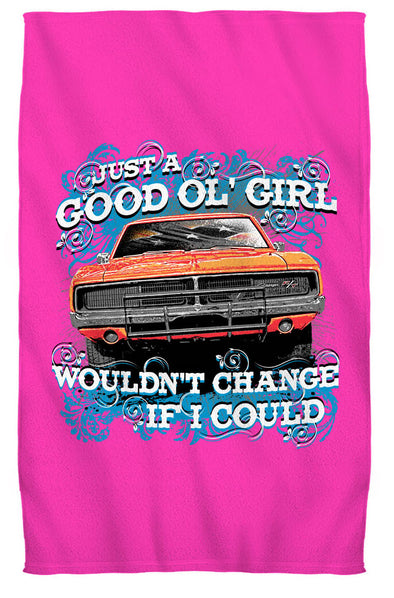 "Cooter's ""Good Ol' Girl, Would Change If I Could"" Premium Beach Towel"