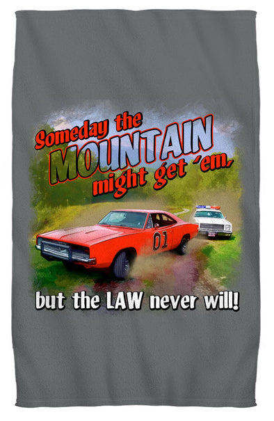 "Cooter's ""Mountain Might Get'em"" Premium Beach Towel"