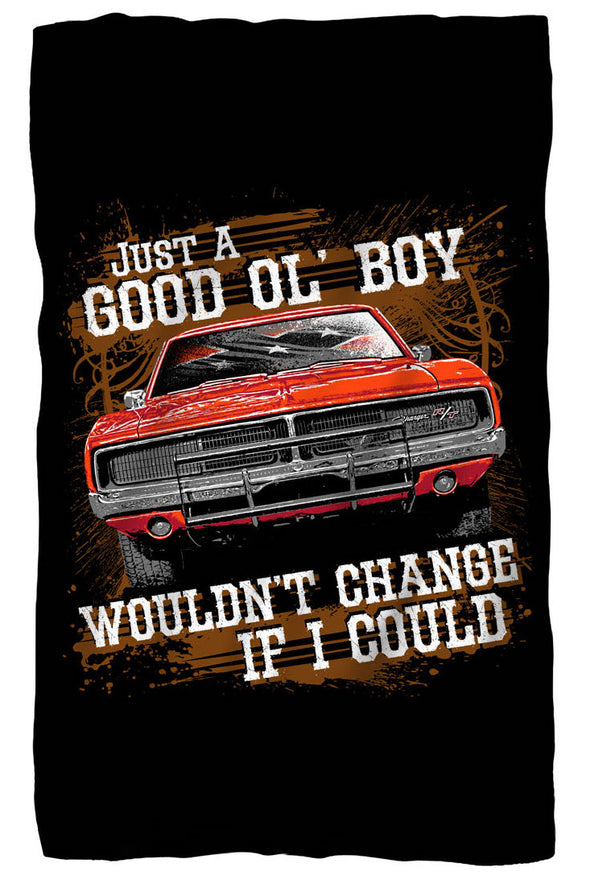 "Premium Fleece Blanket Cooter's ""Good Ol' Boy, Would Change If I Could"""