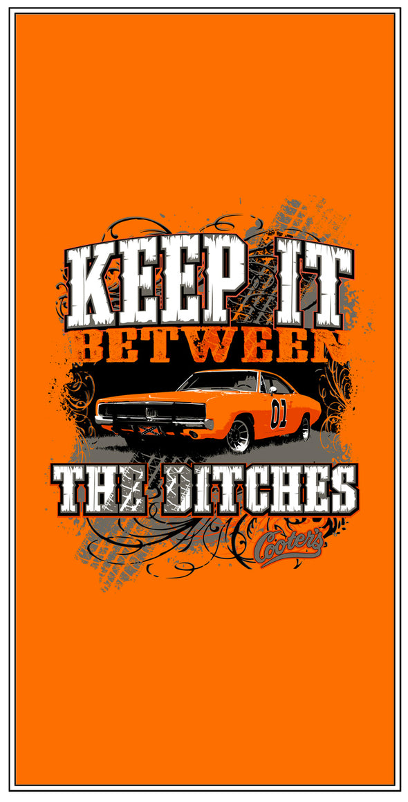 "Premium Fleece Blanket Cooter's ""Keep it Between the Ditches"""