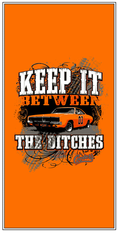 "Cooter's ""Keep it Between the Ditches"" Premium Beach Towel"