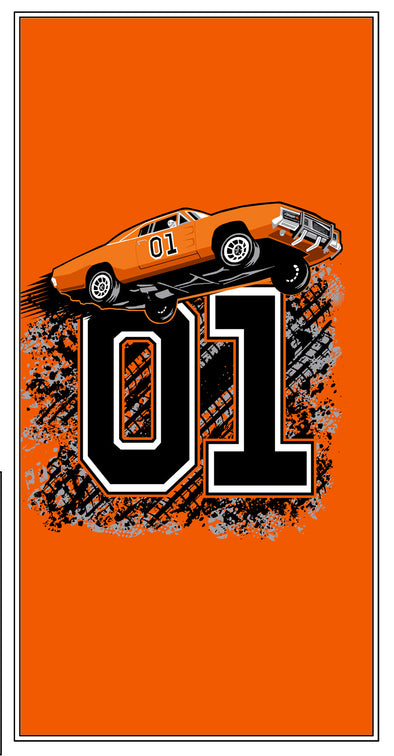 "Cooter's ""General Lee Flying 01"" Premium Beach Towel"