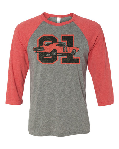 Cooter's GL 01 Old School Raglan 3/4 Sleeve T-Shirt