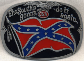 The South Going To Do It Again Confederate Belt Buckle