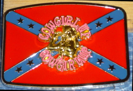 Cowgirl Up Confederate Belt Buckle
