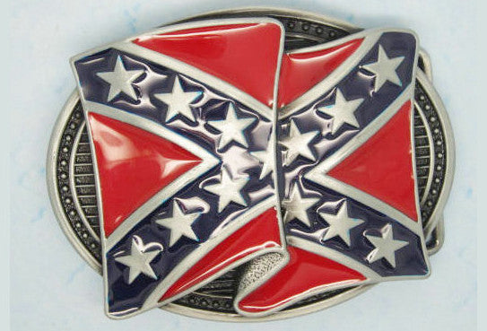 Creased Confederate Belt Buckle