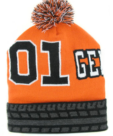 Beanie Hat Cooter's General Lee W/Cuff