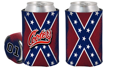 Can Coolie Confederate Battle Flag