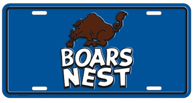 Boar's Nest License Plate