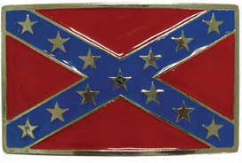 Rebel Flag Confederate Belt Buckle