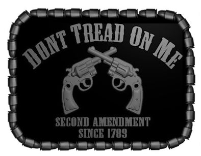 Don't Tread On Me With 2nd Amendment Gadsden Belt Buckle