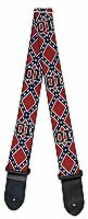 Guitar Strap Confederate Flag 01