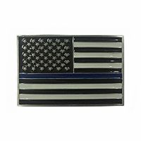 USA Thin Blue Line Belt Buckle