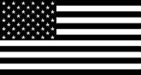 Black & White US - 3'X5' American Flag Polyester