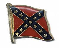Confederate Flag Hat Pin #2