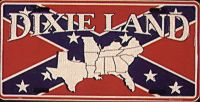 Dixie Land  Confederate Flag License Plate