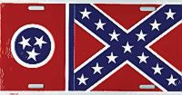 Tennessee Confederate Flag License Plate