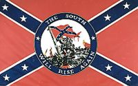 South Will Rise Again - 3'X5' Confederate Flag Polyester