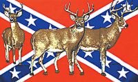 Deer - 3'X5' Confederate Flag Polyester