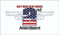 Don't Tread On My Rights 2nd Amendment - 3'X5' Gadsden Flag Polyester