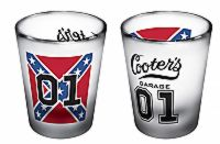 Clear Cooter's Rebel 01 Shot Glass