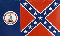 Virginia -3'X5' Confederate Flag Polyester
