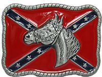 Horse Head Confederate Belt Buckle