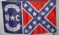 North Carolina - 3'X5' Confederate Flag Polyester