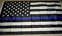 USA Blue Line - 3'x5' American Flag Polyester