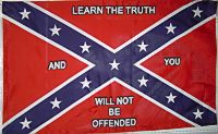Learn The Truth - 3'X5' Rebel Flag Polyester