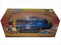 "1:18 Cooter's #00 Blue Ford Mustang ""Dukes of Hazzard"" Car"