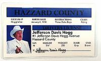 """Boss Hogg"" Novelty Driver License"