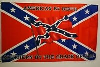 American By Birth - 3'X5' Rebel Flag Polyester