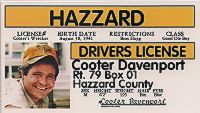 """Cooter"" Novelty Driver License"
