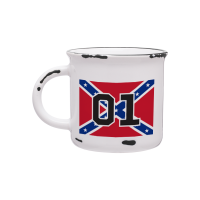 Vintage Cooter's 01 Rebel Flag Coffee Cup