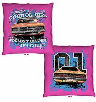 "Throw Pillow Cooter's ""Good Ol' Girl, Would Change If I Could"""