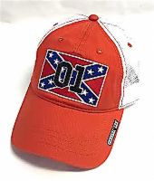 Cooter's Rebel Flag 01 Orange Trucker Hat