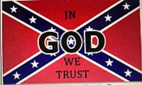 In God We Trust - 3'X5' Rebel Flag Polyester
