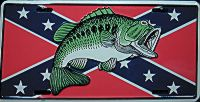 Fish Confederate Flag License Plate