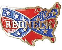 Redneck Confederate Belt Buckle