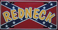 Redneck Confederate Flag License Plate